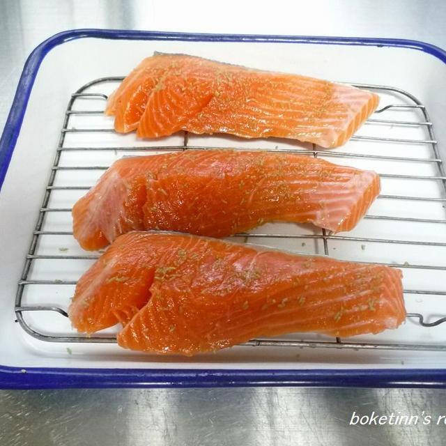 鮭とベーコンのホイル焼き♪
