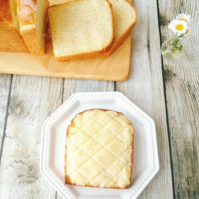 メロンパントースト&メロンパンの中の生地で食パン