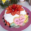 誕生日デコレーションケーキ♡アイシングクッキー by manaママさん