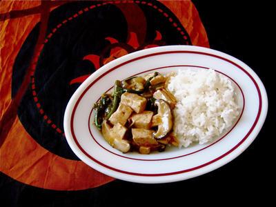 野菜いっぱいの麻婆豆腐風。