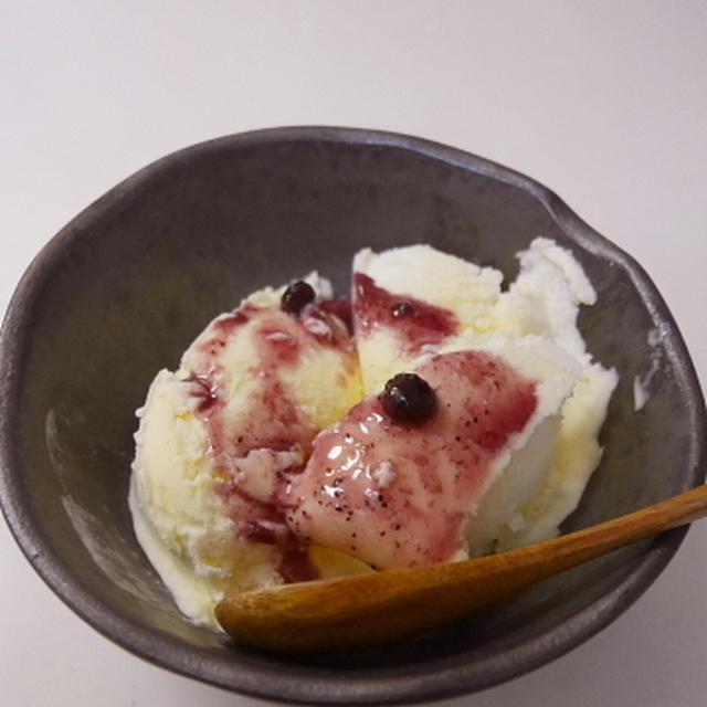 明治フレッシュ100で、自家製アイスクリーム