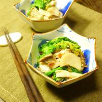 電子レンジでお手軽♪ いわきエリンギと菜の花のおかか醤油和え きのこ料理 -Recipe No.1441-