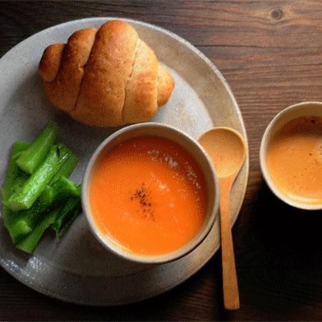 胚芽ロールと人参スープ(レシピあり)