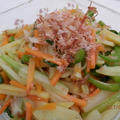 簡単中華風☆いろどり野菜のおかか炒め