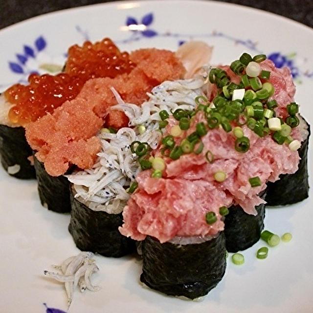 寿司居酒屋さん風に、こぼれ寿司