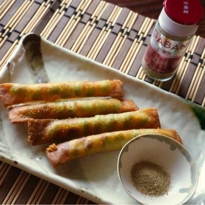 花椒塩で*枝豆とチーズのスティック春巻き 【スパイス大使】