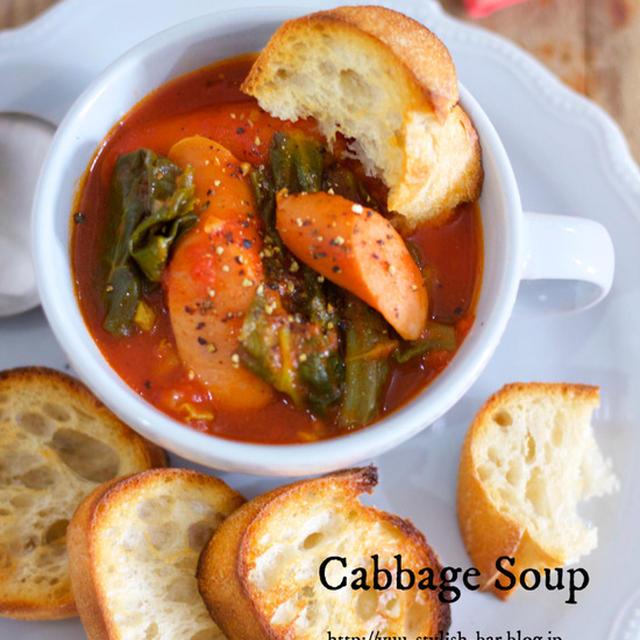 作りおきにも最適♡旨味たっぷり♡『春キャベツとウインナーのトマト煮』