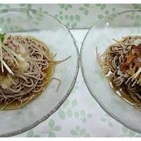 豚こまのおろし蕎麦 (カリカリ あっさり どっち?)