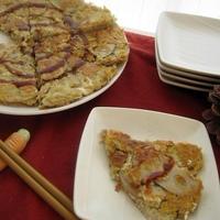 レンコンと豆腐のお好み焼き風