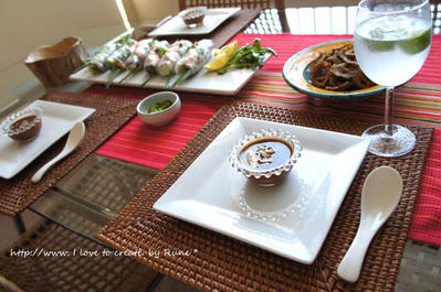 今日はエスニック料理★エスニックピーナッツソース&スパイシーゴーヤのカリカリフライ