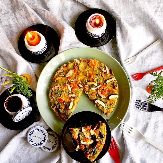きのこと根菜満載スペイン風オムレツ