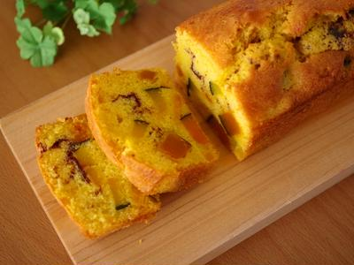 ホットケーキミックス(HM)でつくる、かぼちゃの簡単パウンドケーキ♪