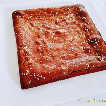Gâteau au chocolat noir au sarrasin