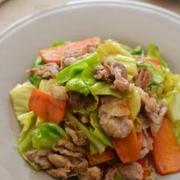 豚野菜炒め。(シンプルに、肉多めで)