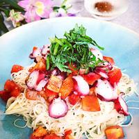 イタリアンな和風★トマトとタコのカッペリーニ風素麺