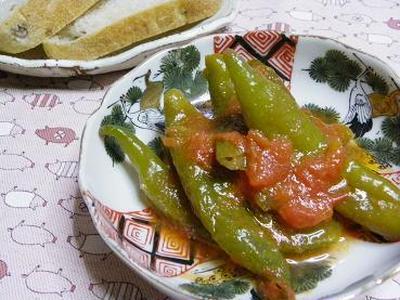 ☆万願寺唐辛子のトマト煮☆