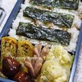 中学息子弁当~キャベツと椎茸の黒こしょう卵焼き・ルクエdeポテトのマヨチーズオーブン焼き・・