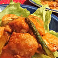 【レシピ】節約★絶品★ご飯がススム★BBQソース2【アスパラと鶏胸のバーベキューソテー】