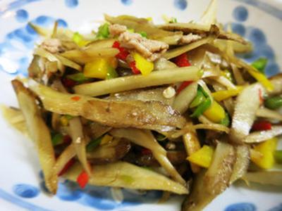 ごぼうの炒めサラダ