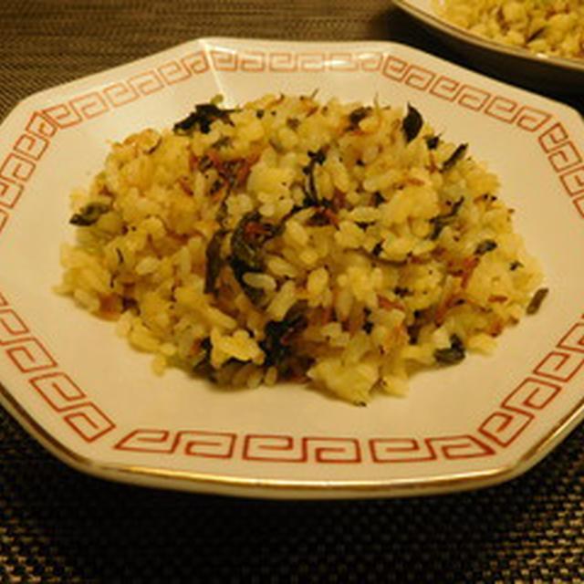 広島菜のチャーハン