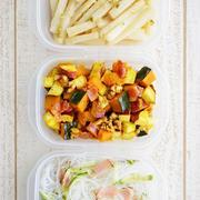 冷蔵庫の残り食材を使って、ちょこっと作り置きを追加(副菜のみ3品)