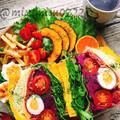 ホエイ入り南瓜食パンで紫芋と生ハムのわんぱくサンド by Misuzuさん