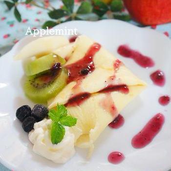 【スパイス大使】カルダモン香る洋梨とりんごのクレープ【卵不使用】