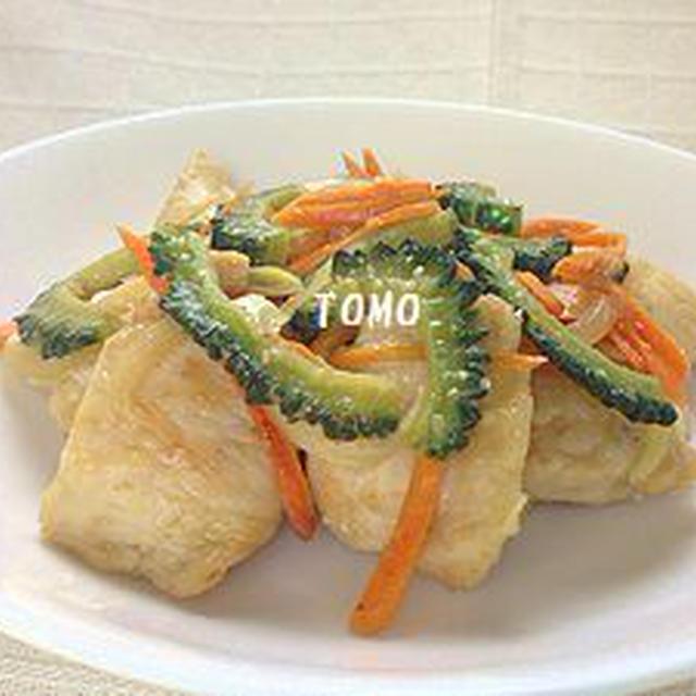 ご飯が進む♪ゴーヤと鶏胸肉の味噌生姜炒め