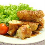 ポテトサラダの 豚肉巻き 焼肉マヨソース ☆