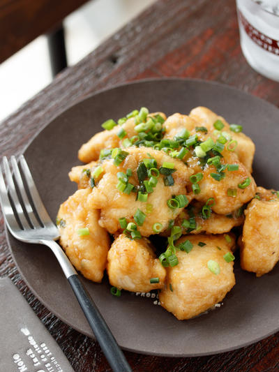 鶏むね肉のネギ南蛮【#作り置き #お弁当 #冷凍保存 #漬け込み不要 #スピードおかず #10分おかず #主菜】