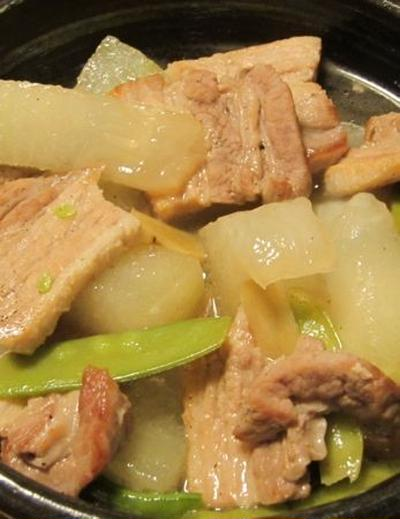 [レシピ] 豚バラ肉と冬瓜の炒め煮