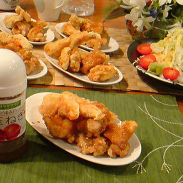 天ぷらに「野菜のうまみドレッシング」♪
