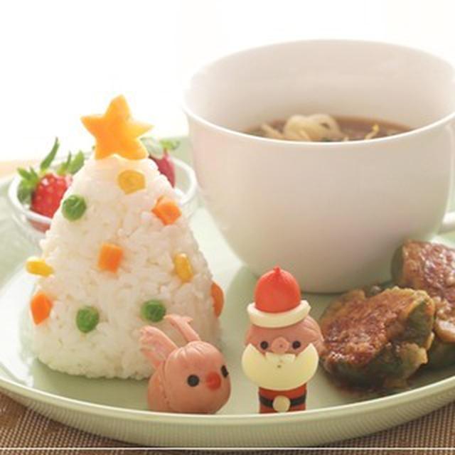 【サンタさん&トナカイウインナーのクリスマスワンプレート*レシピ】