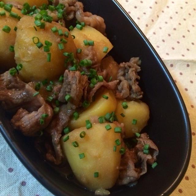 ジャガイモと牛肉のこってり煮