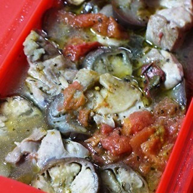 ルクエ×スパイスクッキング☆鶏肉と茄子のトマト煮♪