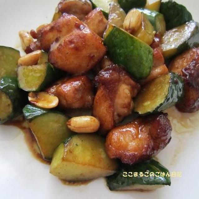 鶏肉と胡瓜のオイスターソース炒め