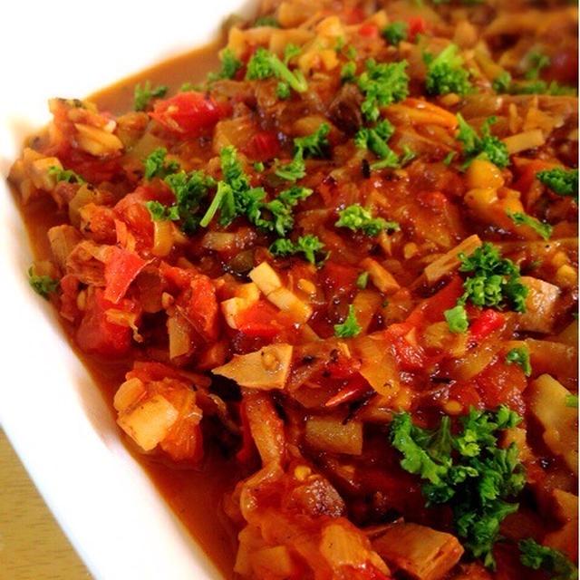味付きなまりと根菜のラグーソース。