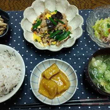 【晩ごはん】生キクラゲの炒め物!