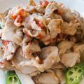 【レシピ】オクラと長芋の豚しゃぶサラダ~梅にんにくドレッシング~