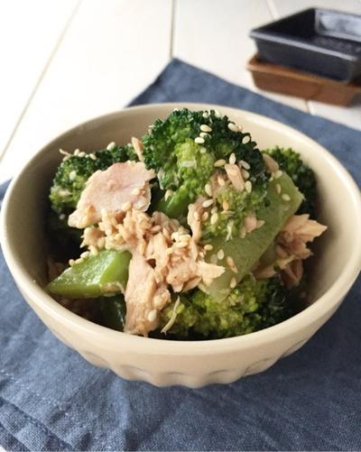 レンジで簡単常備菜【ブロッコリーとツナのうま和え】簡単*時短*作り置き