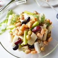 長芋とサラダ豆のデリ風ナムル