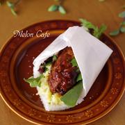 ハンバーグとポテトサラダの「サンドシナイッチ」☆サンドしない簡単&時短サンドイッチ♪