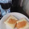 焼きリンゴ風味ジャムのせチーズトースト