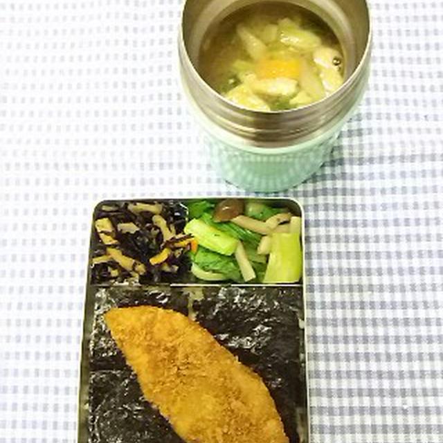 鮭フライで海苔弁当(笑)