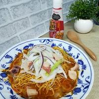 手軽でおいしいスタミナ料理「ハウスエスニックガーデン クッキングペースト<レッドカレー味>でカオソーイ風