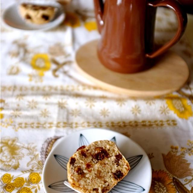 無花果と胡桃のケーキ。