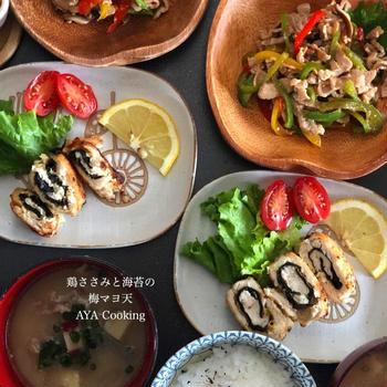 悲しき老化現象〜と桜♡ 鶏ささみレシピ海苔マヨ天