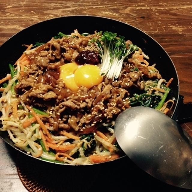 【覚書レシピ:炒めナムルと甘辛ブタの乗っけご飯】