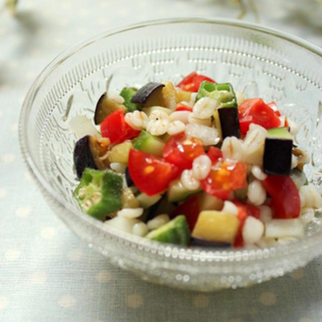 夏野菜たっぷり☆麦のサラダ
