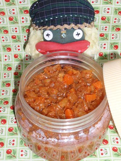 具沢山の韓国風ピリ辛ソース〜韓国風凍り豆腐の豚肉巻き(お家カフェ)
